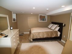 capozzi construction basement bedroom finished basements photo gallery - Decorating A Basement Bedroom