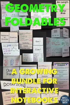 Geometry Interactive Notebook Foldable Bundle - The foldables can be used alone or in an interactive notebook.  Each foldable can be copied multiple ways, depending on the needs of your students.  This is a growing bundle. As more products are added, the price will increase.  If you purchase now, you get all future updates free.