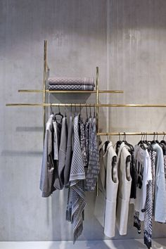 Flagship store lala berlin - shelving and display of clothes clothing store design, boutique store Fashion Retail Interior, Clothing Store Interior, Clothing Store Design, Fashion Showroom, Boutique Interior, Boutique Design, Shop Interior Design, Clothing Stores, Clothing Racks
