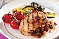 Grilled Bacon-Stuffed Pork Chops recipe
