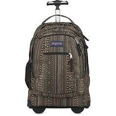 Jansport mens DRIVER 8 Backpack wwheels TN890EF  DOWN TOWN BROWN CAMO STRIPE -- Click on the image for additional details.
