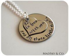Hand Stamped Necklace - One Direction Lyrics - Personalized Jewelry Gift For Her Teens Directioners via Etsy