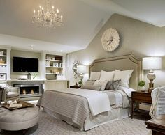 Love the fireplace in the Master Bedroom