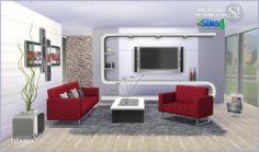 SIMcredible Designs: Titania livingroom set • Sims 4 Downloads