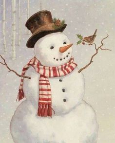 snowman Illustration by Dan Andreasen Vintage Christmas Cards, Christmas Pictures, Christmas Snowman, All Things Christmas, Winter Christmas, Christmas Holidays, Christmas Decorations, Xmas, Merry Christmas