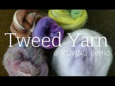 How to Spin a Tweed Yarn - YouTube