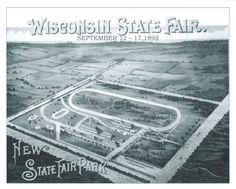 """This postcard dates all the way back to the late 1800s! Check out the brand """"new"""" Fair Park... look familiar? That's because the State Fair still takes place every year on these very grounds! #wistatefair"""