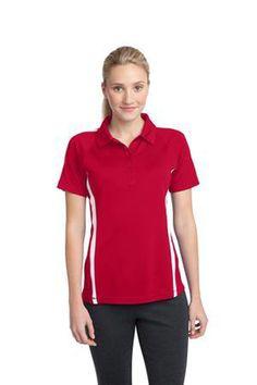 Sport-Tek Ladies PosiCharge Micro-Mesh Colorblock Polo Shirt