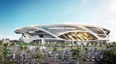 Chargers and Raiders scrub lightning bolts and flame from stadium design Dynamic Architecture, Stadium Architecture, Architecture Drawings, Futuristic Architecture, Facade Architecture, House Plan With Loft, Sports Stadium, Entrance Design, Football Stadiums