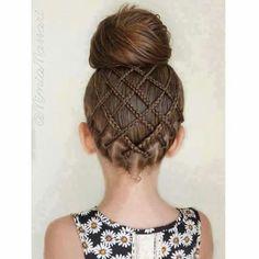 Basket weave style bun