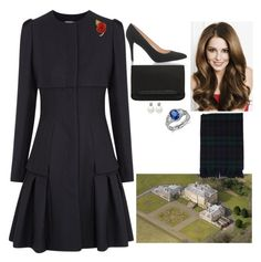 """""""Visting Dumfries House"""" by fashion-royalty ❤ liked on Polyvore featuring Alexander McQueen, Blue Nile and Christian Louboutin"""