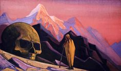 Nicholas Roerich (Russian, 1874 - 1947) - Issa And Giant's Head, 1932