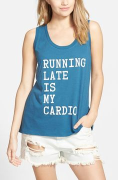 This clever tank outlines the fitness plan perfectly.