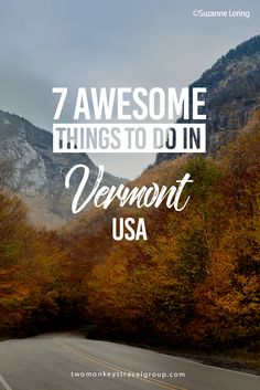7 Awesome Things to Do in Vermont, USA The mountains burst with colors, the air is clean, and people are friendly. Here are 7 awesome things to do in Vermont, USA. New England States, New England Fall, New England Travel, Places To Travel, Travel Destinations, Places To Go, Nevada, Stuff To Do, Things To Do