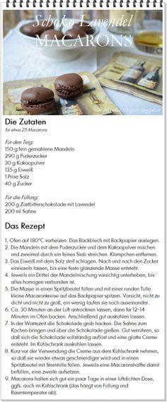 Genuß am Mittwoch: Schoko-Lavendel-Macarons