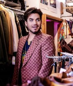 Adam Lambert, Double Breasted Suit, Suit Jacket, Blazer, Suits, Sexy, Jackets, Beautiful, Style