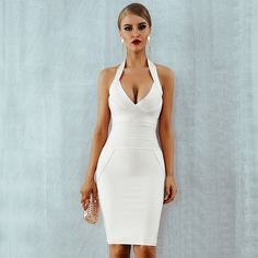 Sexy Halter Backless Sleeveless Club Celebrity Evening Party Dresses Club Dresses, Sexy Dresses, Party Dresses, Homecoming Dresses, Peplum Dresses, Bandage Dresses, Graduation Dresses, Mini Dresses, Dress Party