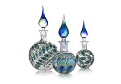 GDUKStyle.com Artisan Feature: The Empress Collection - Series of 3 Hand Blown Glass Bottles POA from RaRa Jane.