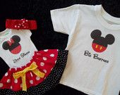 brother sister Valentines outfit onesie dress up tie photo prop shoot toddler twins size newborn baby boy girl 3 6 12 18 24 months. $65.50, via Etsy.