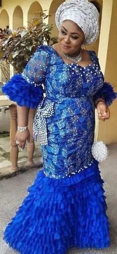 Nigerian Lace Styles Dress, African Party Dresses, African Lace Styles, Lace Dress Styles, Latest African Fashion Dresses, African Dresses For Women, African Print Fashion, African Attire, African Prints