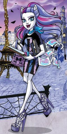 Hi, my name is Catrine DeMew and I'm a Werecat's daughter known among the Monster High students as a clawsome artist. I love creating a purrfect portrait of each of the other Monster High characters! Soirée Monster High, Festa Monster High, Monster High School, Love Monster, Monster Dolls, Ever After High, Cartoon Monsters, Cartoon Art, My Little Pony