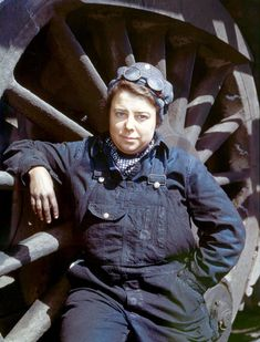 Coal-dusted portraits of WWII women railroad workers Mrs. Dorothy Lucke, a roundhouse wiper. IMAGE: JACK DELANO/LIBRARY OF CONGRESS