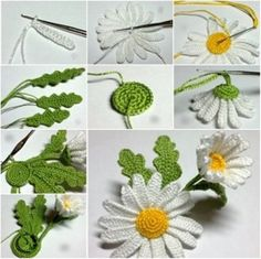 Wonderful DIY Crochet 3D Daisy Flower