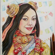 "Tibet. The result of the watercolor work. Watercolor paper CANSON. Watercolor paints ""White Nights"". Synthetic brushes. It's handmade. I hope you enjoy my work. www.nadiyavasilkova.com #nadiyavasilkova #акварель #watercolorpainting #acuarela #aquarela #aquarelle #wip  #artsourse #topcreator #waterblog #tibet  #одинденьсхудожником #art_stupenka #inspiring_watercolors #nawden #iartpost #cartel_watercolorists #artsanity  #ethnic #coloringbook #art_we_inspire #animalcreatives #arts_gate…"
