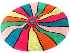 Vintage Mod Pillow Cover, 1970's Crochet, Knit Pillow Cover, Orange, Green, Blue, Pink Pillow Cover, Vintage Handmade, 1970's, Mod Decor