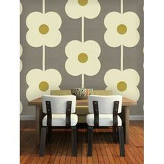 Orla Kiely Wallpaper Giant Abacus Flower