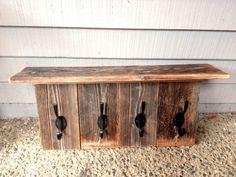 Barnwood Coat Rack and Shelf by thebunchstore on Etsy, $65.00