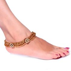 Online Shopping for Designer anklets no. Anklet Bracelet, Anklets, Indian Jewellery Design, Jewelry Design, Bridal Accessories, Wedding Jewelry, Leg Chain, Anklet Designs, Bridal Sandals