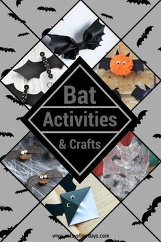 10 Simple Halloween Bat Crafts and Activities - Fun ways for kids to work on a bat themed craft project this Halloween. Perfect bat crafts for preschoolers. Halloween Crafts For Kids To Make, Halloween Activities For Kids, Easy Crafts For Kids, Craft Activities, Halloween Kids, Preschool Crafts, Halloween 2018, Halloween Party, Bat Craft