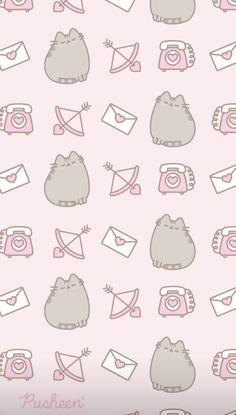 Cat Wallpaper, Iphone Wallpaper, Kawaii Wallpaper, Tatuaje Studio Ghibli, Pusheen Cute, Waterfall Cards, Cute Cartoon Wallpapers, Writing Paper, Phone Backgrounds