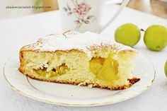"""Oil cake with plums """"Renkloda"""" - recipe from Smaker. Oil Cake, Vanilla Cake, Plum, Cheesecake, Recipes, Cakes, Cheese Pies, Mudpie, Cheesecakes"""