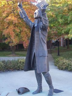Statue of John Wesley located on the campus of Asbury Theological Seminary in Wilmore, Kentucky.