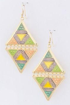 {Metal Diamond Trendy Earrings}