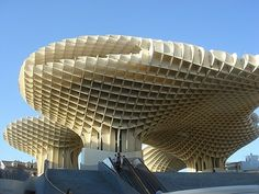 Metropol Parasol Sevilla Spain, a big wooden mushroom patch