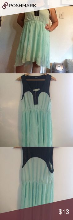 Aqua Hi-lo Pleated Sleeveless Dress Wildflower 100% polyester Worn 1x Very pleated Has belt loops but this listing doesn't include the belt Gorgeous spring and summer color Working zipper in front of the bus  📍Measurements (inches laid flat)📍  Bust (armpit to armpit): 19.5 Waist: 15 (stretches) Shoulders (seam to seam): 13 Length: 34 front, 41 back Shoulder to waist: 15 Straps: 2 Wildflower Dresses High Low