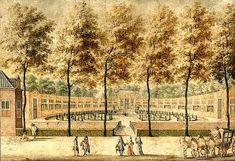 Jan van Call (1656-1706). De Oranjerie in 1690 in de tuin van het huis Zorgvliet aan de Scheveningseweg.
