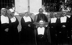 More Daughters.    These are Spanish. Are posing with the then Bishop of Jaca, later Cardinal Archbishop of Seville, Mgr Bueno Monreal. The photo is from 1947: