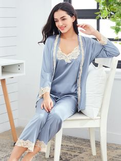 Lace Crochet Cami Pajama Set With Robe - Stage Vintage Bachlorette Ideas Lole Boutique Killstar Revolve Party Baby Acronym Lalarue Bape Maternity Liz Claiborne Hurley Inuit Hygge Trendy Outfits, Fashion Outfits, Trendy Clothing, Fashion News, Fashion Trends, Men Fashion, Bridal Robes, Pajama Set, Pajama Pants