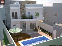 Planta de Sobrado - 4 Quartos - 266.09m² - Monte Sua Casa