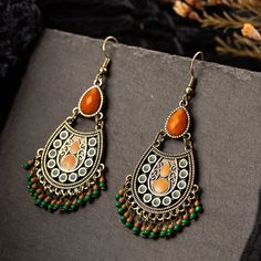 Vintage Ethnic Earrings Brand New! Copper alloy metal used. Light weight for comfort wear all day! Kindly ask reasonable offer and have a deal 💞 Fashion Jewelry Jewelry Earrings Beaded Tassel Earrings, Chandelier Earrings, Small Earrings, Women's Earrings, Diamond Earrings, Fashion Earrings, Fashion Jewelry, Bohemian Jewellery, Bohemian Fashion