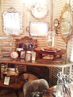 The Seed Box Antiques/silver tray display