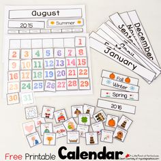 Cute Free Printable Calendar for Circle Time with Kids -