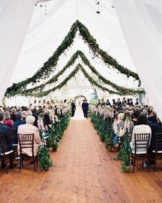 This wedding ceremony is gorgeous.