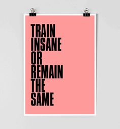 Fitness Training Motivation Poster  Work Out by FlyingPalmStudio, $11.00