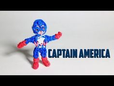 Rainbow Loom Avengers Series: CAPTAIN AMERICA. Designed and loomed by PG's Loomacy. Click photo for YouTube tutorial. 04/03/14