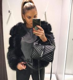 Discover recipes, home ideas, style inspiration and other ideas to try. Lux Fashion, Daily Fashion, Fashion Outfits, Womens Fashion, Saint Laurent College Bag, Sac Yves Saint Laurent, Ysl Handbags, Ysl Bag, Cloth Bags